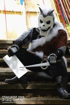 Fullmetal Alchemist - Barry the Chopper (Humano) Epic Cosplay, Amazing Cosplay, Anime Cosplay, Fullmetal Alchemist Cosplay, Fullmetal Alchemist Brotherhood, Cool Costumes, Cosplay Costumes, Alphonse Elric, Roy Mustang