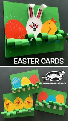 EASTER CARDS - Welcome to our website, We hope you are satisfied with the content we offer. Easy Crafts, Diy And Crafts, Arts And Crafts, Paper Crafts, Easter Art, Easter Crafts For Kids, Easter Activities, Activities For Kids, Spring Crafts