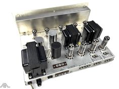 Fisher X-100-3 vintage tube amplifier. www.aeaaudio.com #audiophile #tubeamp Custom Consoles, Vacuum Tube, Audiophile, Golden Age, Fisher, Board, Vintage, Vintage Comics, Sign