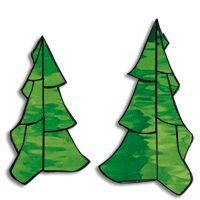 Free Pattern, 3-D Christmas Trees