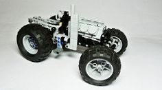 Lego Technic Tractor (hajdekr) Tags: tractor wheel model lego wheels engine technic vehicle motor agriculture moc agro v6engine myowncreation vengine threepointlinkage