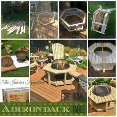 Creative Ideas - DIY Adirondack Fire Bowl Table