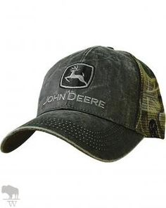 Men s Waxed Cotton Mesh Back Cap by John Deere Pantalones Verdes 3daefc8660b