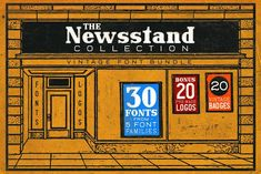 The Newsstand Collection (Font Pack) by Bart Wesolek on @creativemarket