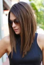 Image result for brunette long in front short in back hair