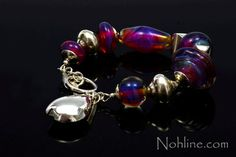 Nohline  Clio Bright Pink and Sterling Silver by NohlineLEcuyer, $245.00