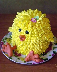 Easy Cake Decorating Themes And Ideas Fancy Cakes, Cute Cakes, Pretty Cakes, Chicken Cake, Animal Cakes, Diy Ostern, Traditional Cakes, Easter Cupcakes, Cake Decorating Tips