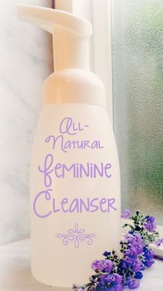 Feminine Wash with alcohol free witch hazel, rose water, almond or jojoba oil, 6 drops lavender EO.