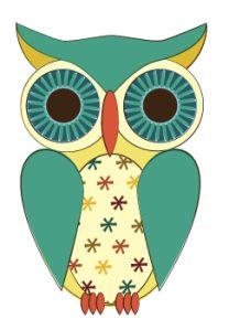 An Owl a Day Keeps Burnout Away. Owl Templates, Applique Templates, Applique Patterns, Owl Artwork, Owl Applique, Whimsical Owl, Paper Owls, Owl Cartoon, Owl Always Love You