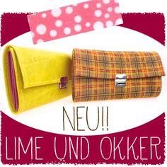 Neue Geldbeutel aus kariertem Leder! Oder Lime Grün nur bei www.elfenklang.com