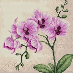 ... Handwerken :: Breigarens - Orchid - counted cross-stitch kit - Luca-S