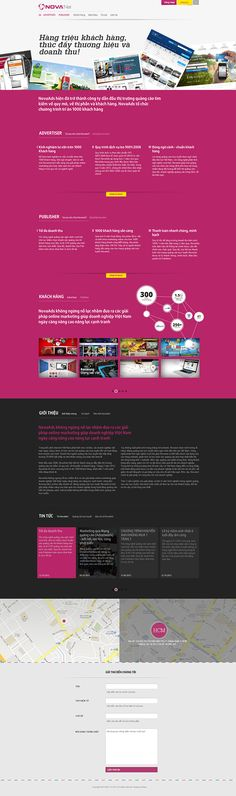 Novanet on Behance. Novanet- the very first and pioneer of Contextual Advertising in Vietnam. Developing from NovaAds, the biggest online advertising agency in Vietnam, NovaAds provides a smart & latest advertising service for over 1500 customers. Novanet website need to be innovative and extra impressive with digital elements. Beautheme gives them one of the first and very best one page website with their distinctive brand color and clever direction in every click & scroll