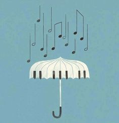 Classical music art • Umbrella illustration