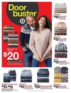 Target Black Friday 2019 Ads and Deals Browse the Target Black Friday 2019 ad scan and the complete product by product sales listing. Conversation Starter Questions, Friday News, Black Friday 2019, Sweaters For Women, Men Sweater, Mens Flannel Shirt, Mens Sale, New Day, Sleeves