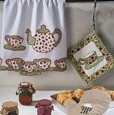 Artesanato, Criatividade e Afins: Pano de prato chá, com molde e PAP