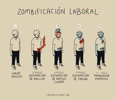 Zombificación Laboral: (CinismoIlustrando)