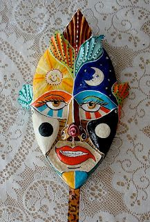 Mi Presencia en Papel Mache: Mascara de papel mache