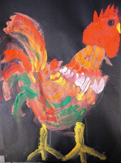 chicken painting by maureencrosbie, via Flickr
