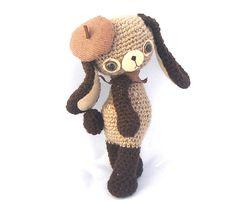 French bunny plush amigurumi.
