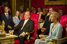 Prince Albert II In this handout image provided by the Palais Princier, Prince Albert II of Monaco and Princess Charlene of Monaco are seated in the Throne Room during the civil ceremony of their Royal Wedding at the Prince's Palace on July 1, 2011 in Monaco. The ceremony took place in the Throne Room of the Prince's Palace of Monaco, followed by a religious ceremony to be conducted in the main courtyard of the Palace on July 2. With her marriage to the head of state of Principality of…