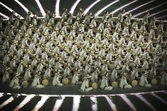 PYEONGCHANG-GUN, SOUTH KOREA - FEBRUARY 09: Performers are seen during the Opening Ceremony of the PyeongChang 2018 Winter Olympic Games at PyeongChang Olympic Stadium on February 9, 2018 in Pyeongchang-gun, South Korea.