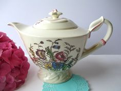 Vintage Vernonware Mayflower Large Teapot by thechinagirl on Etsy