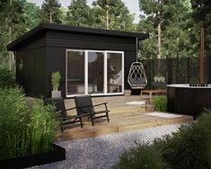 Pergola Ideas Modern Home - - - Pergola DIY Attached To House How To Build - Backyard Pergola Lighting Backyard Studio, Backyard Sheds, Garden Studio, Pergola Patio, Backyard Patio, Pergola Ideas, Corner Pergola, Pergola Swing, Wooden Pergola