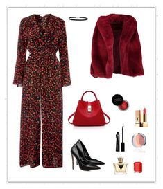 Outfit of the day! by christina-kontogianni on Polyvore featuring polyvore fashion style Boohoo Topshop BillyTheTree Yves Saint Laurent Givenchy GUESS Essie Concrete Minerals clothing