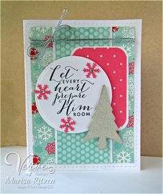 Hand Stamped Card By Marisa Ritzen Using The Every Heart Plain Jane From Verve