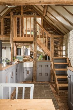 A Barn-Style Holiday Cottage Oozing With Rustic Charm - Dear Designer Cottage Plan, Rustic Cottage, Cottage Ideas, Rustic Barn Decor, Wooden Cottage, Cottage Living, Ideas Cabaña, Barn Conversion Interiors, Barn House Conversion