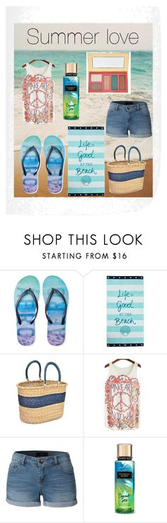 """""""Summer love"""" by hmacglam ❤ liked on Polyvore featuring Aéropostale, Lexington, Swahili, LE3NO and tarte"""