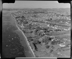 Aerial photograph taken by Whites Aviation. Tauranga New Zealand, Historical Photos, Gallery, Beach, Water, Outdoor, Historical Pictures, Gripe Water, Outdoors