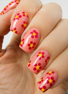 Simple Spring Nail Art Designs Ideas Trends 2014 For Learners 5 Simple Spring Nail Art Designs, Ideas & Trends 2014 For Learners Flower Nail Designs, Simple Nail Art Designs, Flower Nail Art, Best Nail Art Designs, Christmas Nail Art Designs, Christmas Nails, Easy Nails, Easy Nail Art, Cool Nail Art