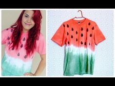 DIY: T-shirt de melancia com tie dye - YouTube