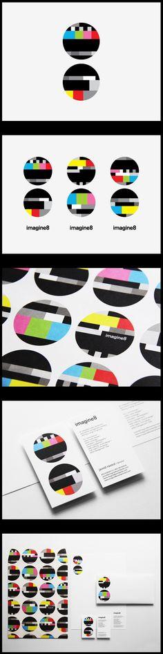 visual ID / imagine8 | Designer: Ken Lo - of Hong Kong based studio Blow - http://www.blow.hk: