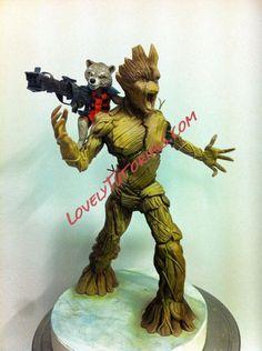 Rocket Raccoon and Groot figures step by step