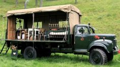 more glamping: The Beer Moth Truck-Tent
