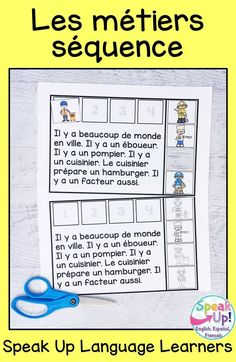 Students love a simple sequence activity about les professions en français. It is perfect to use in French class to learn about professions/occupations vocabulary. Teachers love a print and go + paperless sequencing activity for young learners. The paperless BOOM version includes audio. C'est parfait pour une classe d'immersion, primaire, fle où maternelle. Les enfants aiment la lecture et BOOM activities en français. #maternelle #frenchimmersion Sequencing Cards, Sequencing Activities, Student Reading, Student Work, Pete The Cat Author, World Language Classroom, Spanish Lessons, Art Lessons, French Classroom