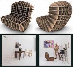 Design Mobiliário Cadeira de Papelão Reciclado de David Grass 02