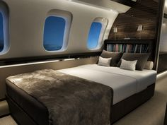 A great interior design doesn't just have to be on the ground! | Global 7000 Bombardier Interior