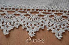 Tying the towel hook Crochet Bedspread Pattern, Crochet Doily Rug, Crochet Lace Edging, Crochet Dishcloths, Cotton Crochet, Crochet Home, Crochet Trim, Crochet Flowers, Crochet Stitches