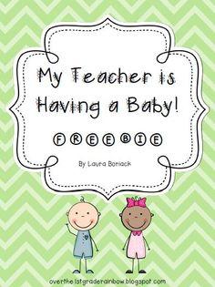 My Teacher is Having a Baby ~ FREEBIE