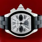 Cartier Roadster S Chronograph 49MM Silver Roman Dial Watch W6206020 Box&Papers