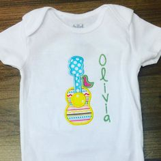 Love how this turned out! #Heidis #monogrameverything #onesies #applique