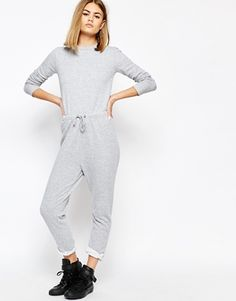 a33640c9efc Daisy Street Relaxed Jumpsuit with Draw string Waist and Raw Hems. ASOS
