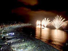 New Year in Copacabana beach