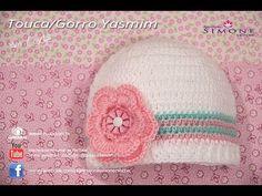 Touca Gorro de Crochê para Bebê Yasmim - Professora Simone - YouTube