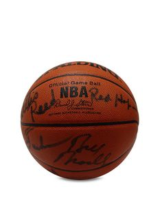 1970 New York Knicks Championship Team Signed Basketball by Brigandi Coins and Collectibles at Gilt