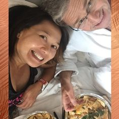 For the final #TRIDAILYCHALLENGE we celebrate with nachos in bed after our first full marathon. #marathon #triathlon @challengeatlanticcity @challengeamericas