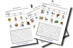 Phonics Word Search Worksheets